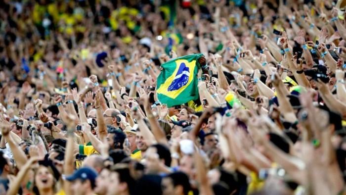 Regular torcida brasileira